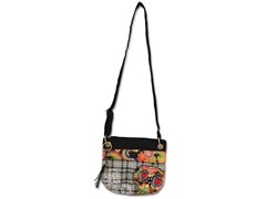 Boho Sugar Skull Crossbody Bag, Black