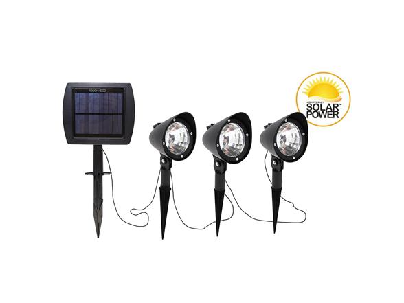 Image of Triple Solar Powered Led Spotlight Set
