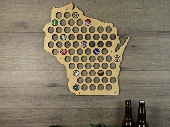 Beer Cap Map Wisconsin
