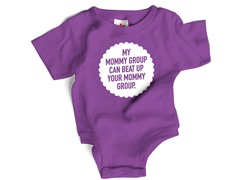 """My Mommy Group..."" in Purple (0-6 mos)"