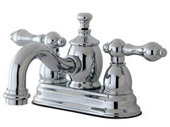 Lavatory Faucet w/ Brass Pop-Up, Chrome