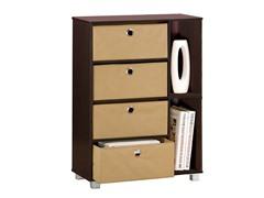 Cabinet Dresser w/4 Bin-Type Drawers