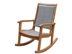 Grey Wicker Rocking Chair