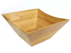 "Large Square Bamboo Bowl 12.8""x6"""
