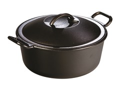 Lodge 4-Quart Cast Iron Dutch Oven - Black