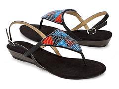 Muk Luks Women's Maya Sandals, Black
