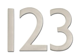 House Numbers in Satin Nickel