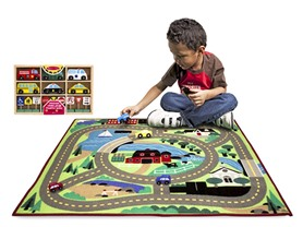 Melissa & Doug Road Rug & Cars Bundle- 3 Choices