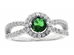 Green Simulated Diamond Ring
