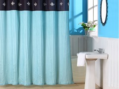 Meridian Embroidered Shower Curtain