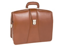 "Harrison Leather 17"" Partners Laptop Brief"