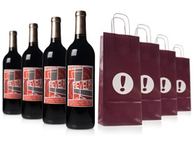 Woot Cellars Revelry Red (4) w/Gift Bags