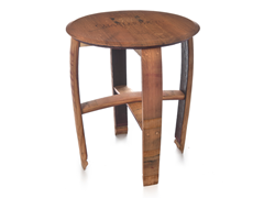 Wine Cask End Table