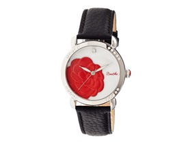 Bertha Daphne MOP Leather-Band Watch