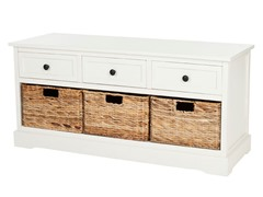 Damien 3 Drawer Storage - Cream