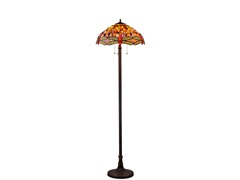 Tiffany Style Dragonfly Floor Lamp