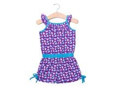 Purple Hearts Knit Romper (2T-4T)