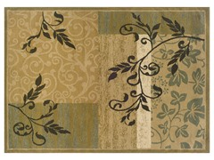 Greyson Beige Floral Boarder Rug (Multiple Sizes)