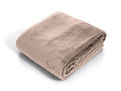 Lavish Home Super Soft Flannel Blanket - Beige
