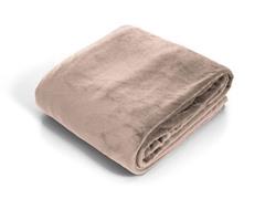 Lavish Home Super Soft Flannel Blanket - Beige