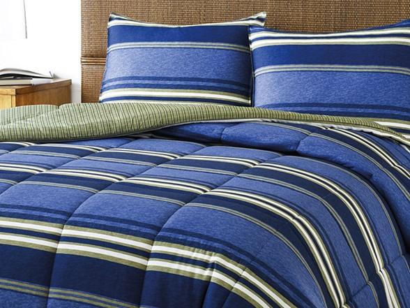 Eddie Bauer Friday Harbor Full Queen Comforter Set Blue
