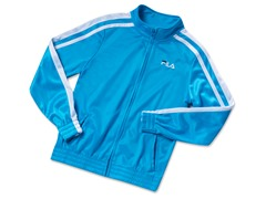 Girls Tricot Track Jacket - Ocean