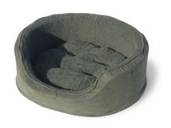 PAW Cuddle Round Suede Terry Pet Bed - Forest