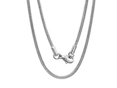 "Stainless Steel 24"" Snake Necklace Chain"