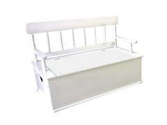 Simply Classic White Bench Seat with Storage