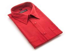 Oleg Cassini Men's Dress Shirt, Red XXXL