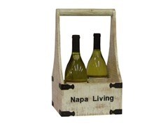 Napa Living Four-Bottle Wine Holder