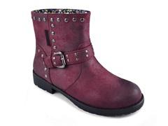 MUK LUKS®Women's Bailee Mid Rise Buckle Boot, Burgundy