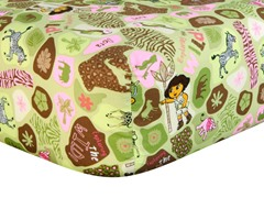Dora the Explorer Exploring the Wild Crib Sheet