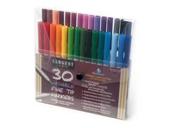 Sargent Art 30 Washable Markers - Fine Tip