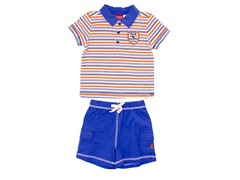Blue 2-Piece Casual Short Set (3M-9M)
