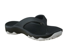 Youth Destination Flip Flop-Black/Silver