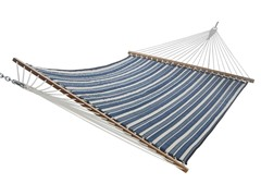 Quilted Acrylic Hammock, Navy Stripe