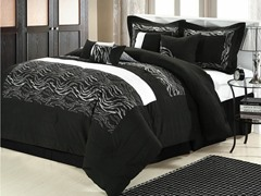 Zebra 8Pc Set-Black-2 Sizes
