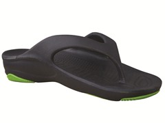 Youth Flip Flop - Navy/Lime Green