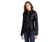 BCBG Reese Packable Down Jacket, Black