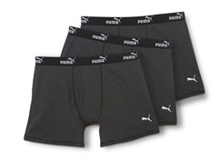 Puma Boxer Briefs, Dark Grey 3pk
