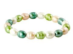 Freshwater Multi Color Pearl Bracelet
