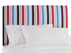 Upholstered Headboard Stripe Red/Blue