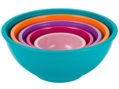 Colorways 5-Piece Nested Bowl Set-Azure