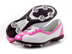 Couture Half Lace Golf Shoes, Fuchsia