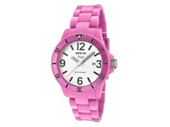 Invicta Angel White Dial Pink Plastic