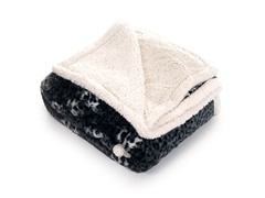 Fleece Sherpa Blanket Throw - Cheetah