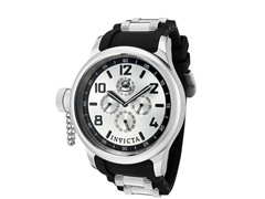 Men's Russian Diver Silver/Black Watch