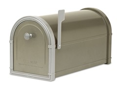 Bellevue Post Mailbox, Bronze with Platinum