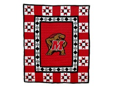 University of Maryland Quilted Throw